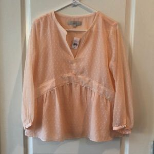 Loft pink blouse NWT. Size small.